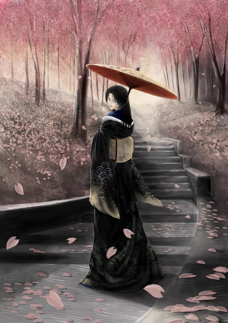 belle-geisha-dans-le-parc-flora