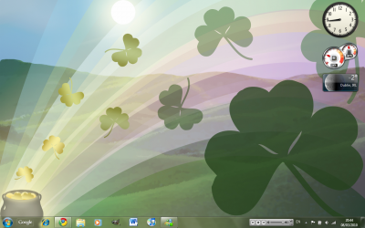 Shamrocks ThemePack para Windows 7 UmbrellaMOD.CoM