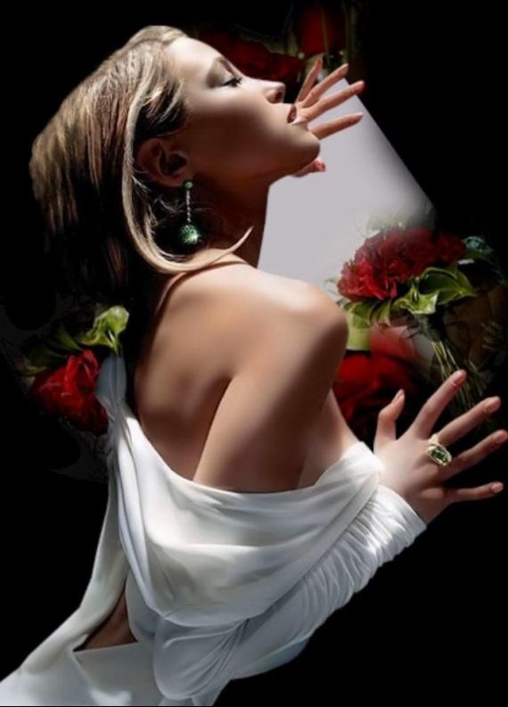 belle-image-femme-rose-rouge-flora